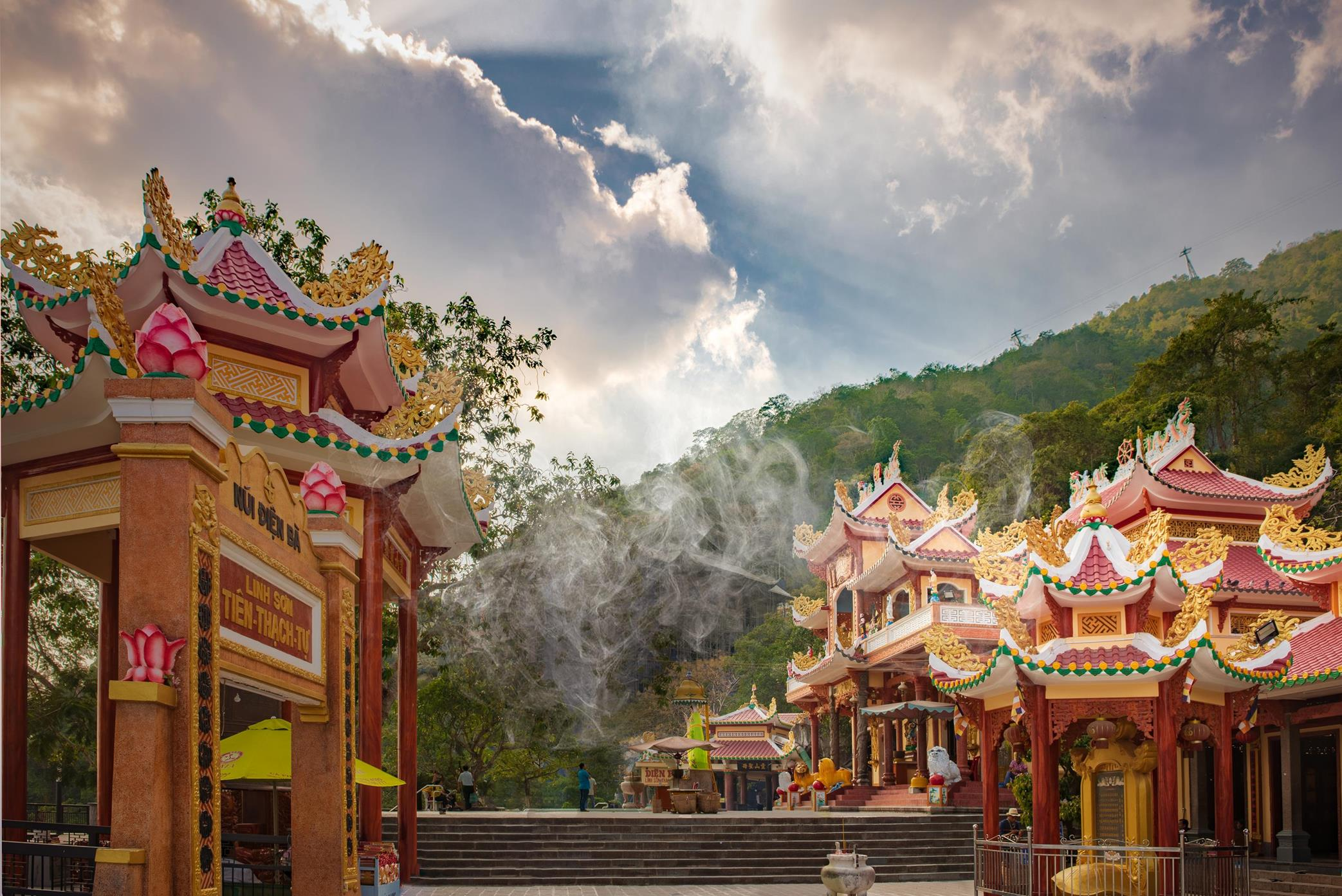 Admire the sacred temple complex on Ba Den mountain
